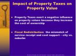 impact of property taxes on property value