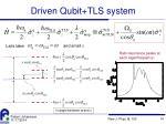 driven qubit tls system1
