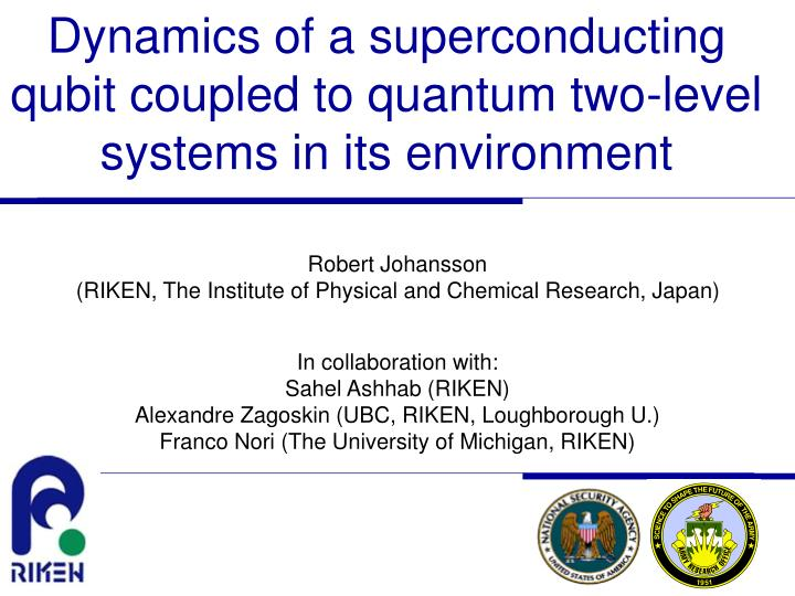 dynamics of a superconducting qubit coupled to quantum two level systems in its environment n.