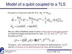 model of a qubit coupled to a tls