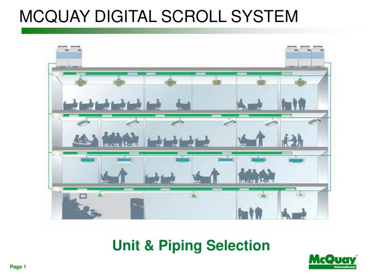 mcquay digital scroll system n.