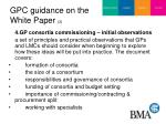 gpc guidance on the white paper 3