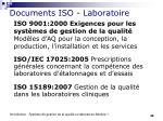 documents iso laboratoire