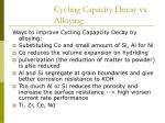 cycling capacity decay vs alloying