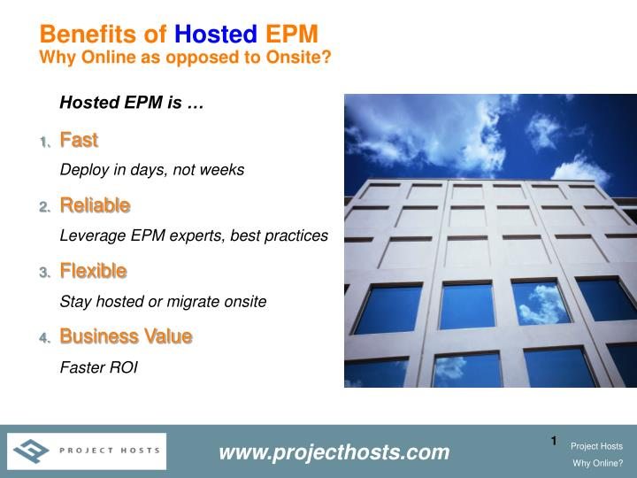 benefits of hosted epm why online as opposed to onsite n.