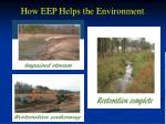 how eep helps the environment