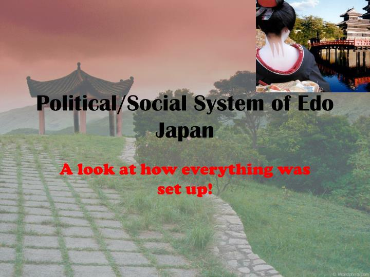 Political social system of edo japan