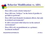 behavior modification vs aba