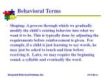 behavioral terms