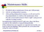 maintenance skills