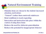 natural environment training