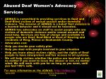 abused deaf women s advocacy services