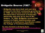 bridgette bourne 1967