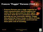 frances peggie parsons 1923