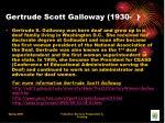gertrude scott galloway 1930