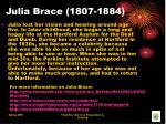 julia brace 1807 1884