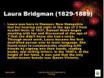 laura bridgman 1829 1889