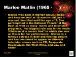 marlee matlin 1965