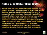 nellie z willhite 1892 1990