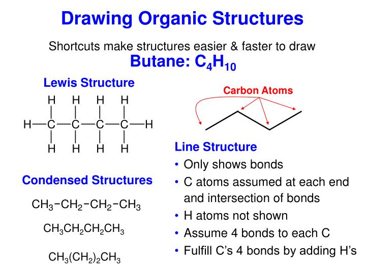 Drawing organic structures