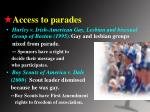 access to parades