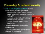 censorship national security