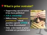 what is prior restraint