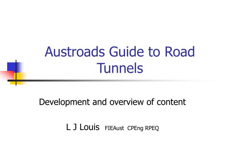 austroads guide to road tunnels n.
