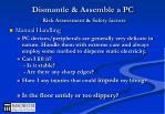 dismantle assemble a pc risk assessment safety factors5