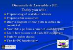 dismantle assemble a pc today you will