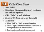 vised cheat sheet