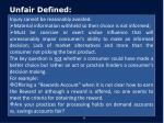 unfair defined1