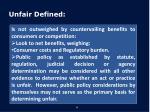 unfair defined2