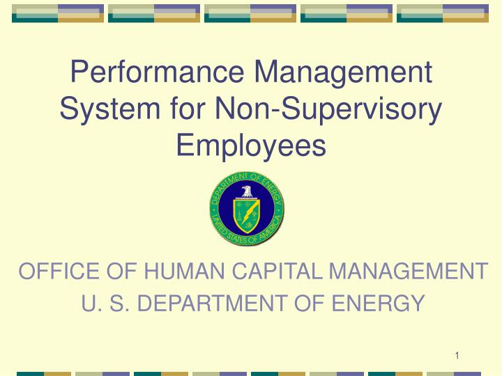 office of human capital management u s department of energy n.
