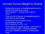 convert ounce weight to grams