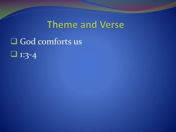 Theme and Verse