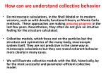 how can we understand collective behavior