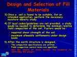 design and selection of fill materials1