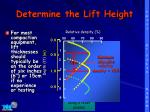 determine the lift height
