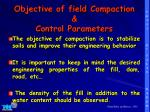 objective of field compaction control parameters