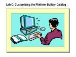 lab c customizing the platform builder catalog