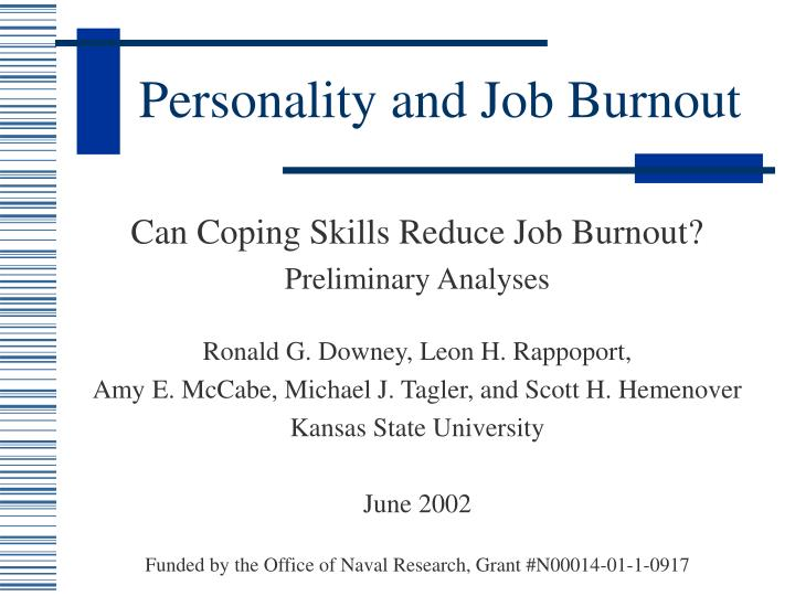 personality and coping Substantial associations between personality traits and coping style under stress were identified in recruits going through us navy basic training the personality.