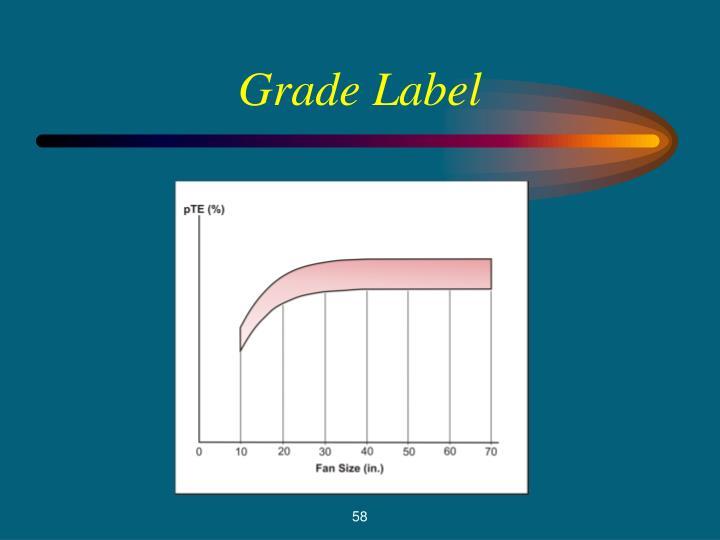 Grade Label