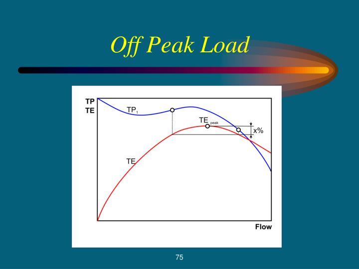 Off Peak Load