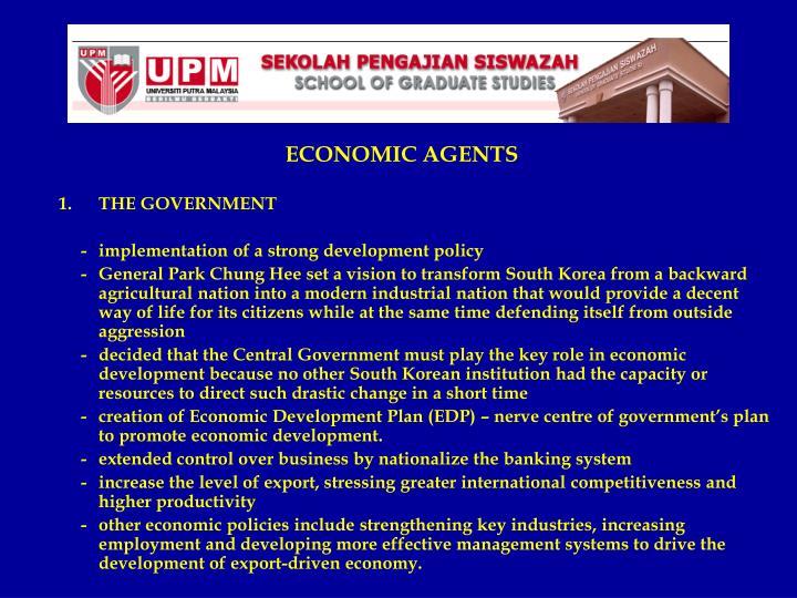 ECONOMIC AGENTS