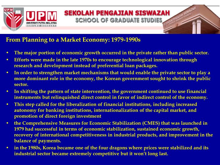 From Planning to a Market Economy: 1979-1990s