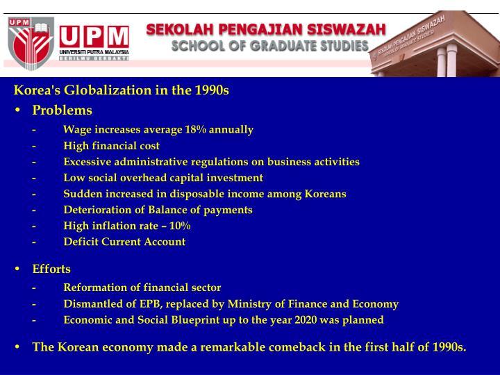 Korea's Globalization in the 1990s