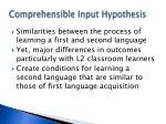 comprehensible input hypothesis