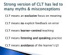 strong version of clt has led to many myths misconceptions