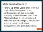 statement of impact